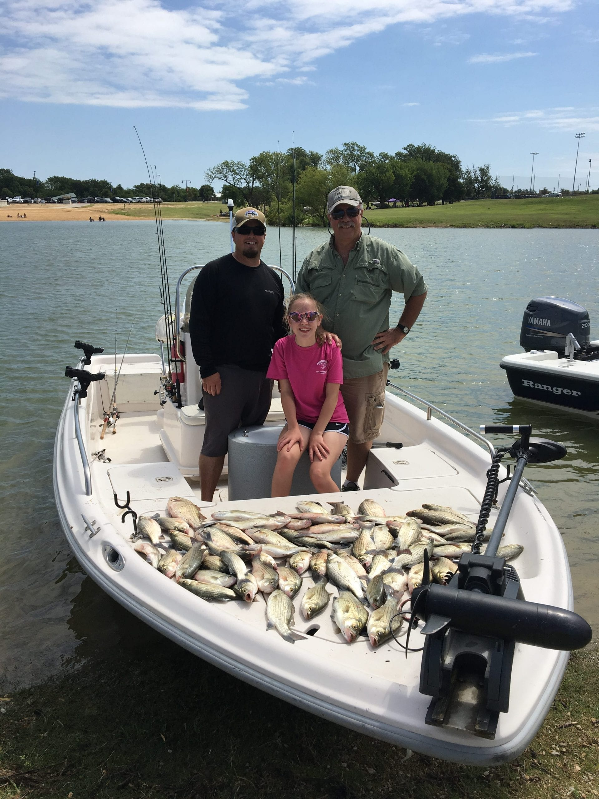 Lake lewisville crappie and hybrid striper fishing has been on fire
